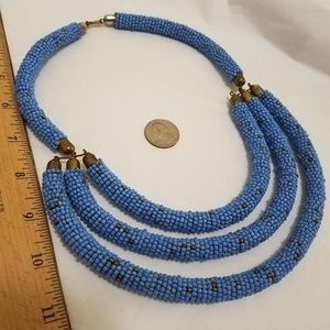 Jewelry - African turquoise bead bar statement piece